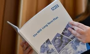 Photo of NHS Long Term Plan booklet
